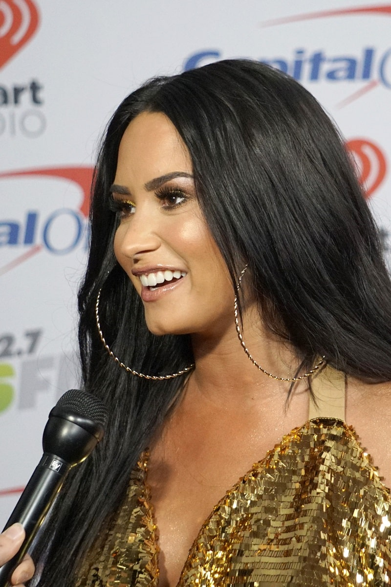 Demi Lovato at the Jingle Ball 2017 at the Forum on December 2, 2017 in Inglewood, CA