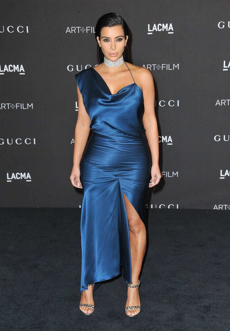 Kim Kardashian at the 2014 LACMA Art+Film Gala at the Los Angeles County Museum of Art